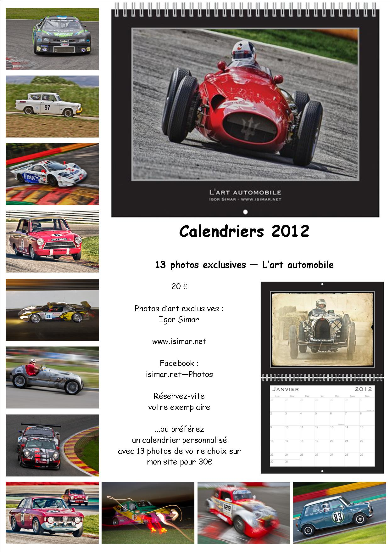 CALENDRIERS 2012